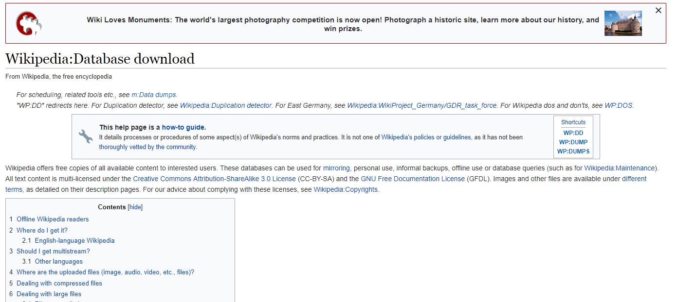 Wikipedia Database
